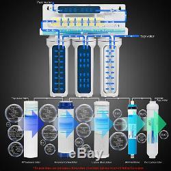 5 Etape Système D'osmose Inverse Ro Potable Filtre À Eau 75 Gpd Avec Surpresseur