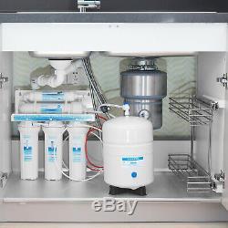 5 Etape Undersink Osmose Inverse Filtre À Eau Système Plus Extra 7 Filtres 75gpd