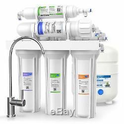 5 Etape Undersink Système D'osmose Inverse Ro Potable Filtre À Eau 100 Gpd