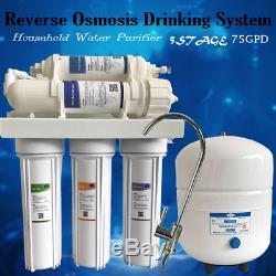 5 Étapes D'osmose Inverse Désionisation Ro / DI Filtre Filtres À Eau Système 75gpd