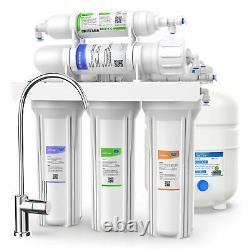 5 Étapes Osmose Inverse Système De Filtration D'eau Potable 75 Gpd Ro Home Purificateur
