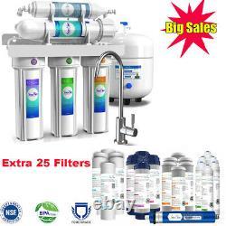 5 Étapes Sous Évier Système De Filtre À Eau D'osmose Inverse 75gpd Extra 3 An Filtre