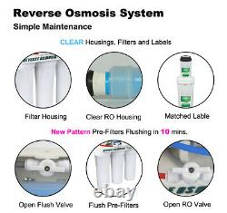 5 Étapes Système D'osmose Inverse 75 Gpd Eau Potable Gratuit 1 An Supplémentaire 7 Filtres