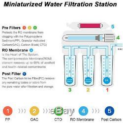 5 Stade Osmose Inverse Eau Potable Système De Filtration Ro Accueil Purificateur 100gpd