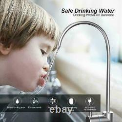 5 Stade Osmose Inverse Réseau D'eau Potable Purificateur Sous L'évier + Filtre 100gpd
