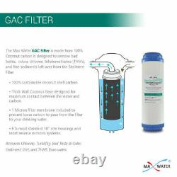 5 Stage Home Reverse Osmosis System 16 Filtres À Eau 75gpd Robinet Nickel Moderne