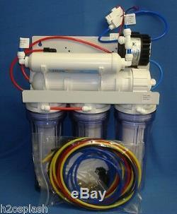 5 Système D'osmose Inverse 75 Etape Gpd Ro Booster / Perméat Pompe -clear Carters
