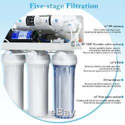 5-stage Ultra Safe Potable Par Osmose Inverse Filtre À Eau Système Purificateur Blanc