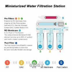 5stage Undersink Système Ro Filtre D'eau Potable Inverse Osmosis75g Purification