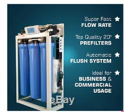 600 Gpd Commercial Osmoseurs Filtre À Eau Système Surpresseur +20 Gal Réservoir