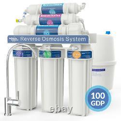 6 Étape 100gpd Alcaline Osmose Inverse Ro Filtre D'eau Potable Purificateur Système