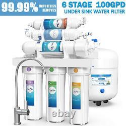 6 Étape 100gpd Ph Alcaline Osmose Inverse Filtre À Eau Potable Purificateur