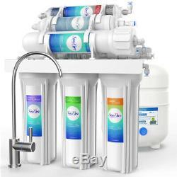 6 Etape 75gpd Alcaline Eau Par Osmose Inverse Système De Filtration Ro Sous Système Évier