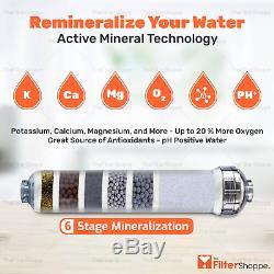 6 Etape Kdf / Ph Alcalin (antioxydant) Système D'osmose Inverse De L'eau 75 Gpd