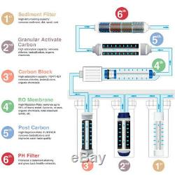 6 Etape Osmose Inverse Ro Système Filtre À Eau Avec Des Piles Alcalines Filtre 100 Gpd
