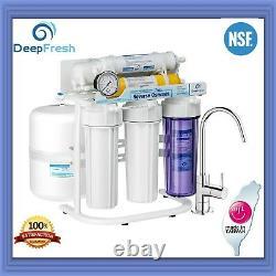 6 Étape Ph+ Reverse Osmosis Alkaline Water Filter Ro System Avec Certifié Nsf