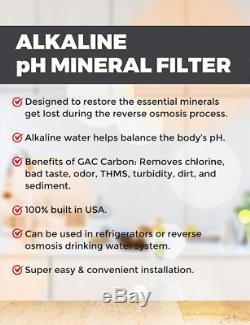 6 Etape Reminéralisant Eau Par Osmose Inverse Système De Filtration 100 Gpd + Pompe Perméat