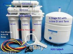 6 Etape Ro + DI Système D'osmose Inverse 75 Membrane Gpd Filtre À Eau Réservoir De Stockage