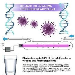 6 Etape Système D'osmose Inverse De Plus Avec Les Filtres Uv 6w Kills Virus 75 Gpd