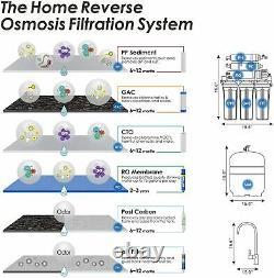 6 Étapes Osmose Inverse Système De Filtration D'eau Potable Filtres D'eau Maison Entière