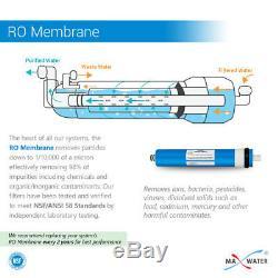 6 Système D'osmose D'inversion Marine D'hydroponique D'aquarium Marin De Récif D'étape 100gpd 0ppm Rodi
