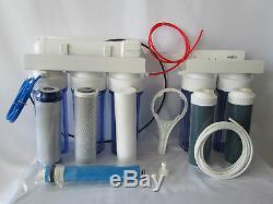 6 Système De Filtrage De L'eau D'aquarium D'os De Os De Fond De Gpd De Phase 100 / Os