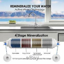 6-stage Ph Alcalin Osmose Inverse Eau Potable Système De Filtration Robinet Purificateur