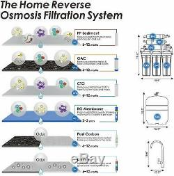 6stage 100gpd Undersink Alcaline Ro Filtre D'eau Potable Système D'osmose Inverse