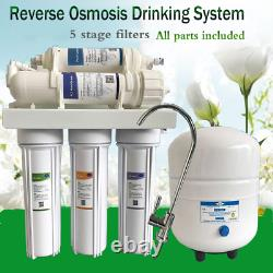 75gpd Reverse Osmose Ro Système D'eau +5 Filtres D'étape Garanti Eau Salubre Bon