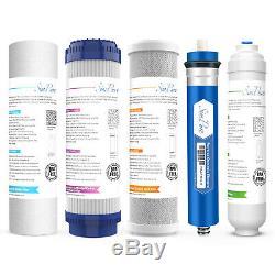 75gpd Sous L'évier 6 Étapes Ro Potable Système De Filtration D'eau Ph Alcalin Minéral