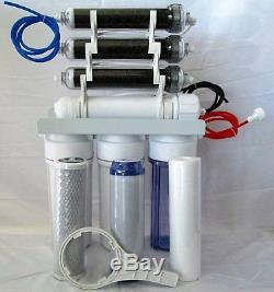 7 Etape Aquarium / Désionisation Osmose Inverse Ro / DI Système D'eau De 100 Gpd 0 Tds