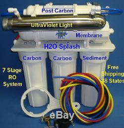 7 Etape Ro + DI + Uv 100 Gpd Système D'osmose Inverse Filtre À Eau Éclaboussures Nt H2o