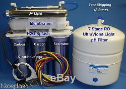 7 Etape Ro + Ph + Uv Système D'osmose Inverse Filtre Eau 24/35 / 50gpd Carters Effacer