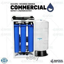800 Gpd Commercial Système D'osmose Inverse De Filtration D'eau + 40 Gallons