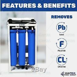 800 Gpd Osmose Inverse Commercial Système De Filtration D'eau + 20 Gallons