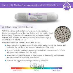 8 Système D'osmose Inverse Alcalin Minéral Alcalin Résidentiel Résidentiel Ph Plus De 50 Gpd
