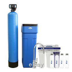 Adoucisseur D'eau D'une Capacité De 48 000 Grains + Système Ro À 5 Étapes + 4 Bouteilles D'eau En Verre
