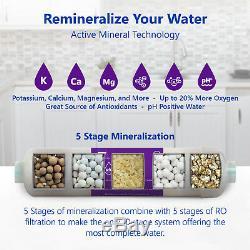 Alcaline D'osmose Inverse De Filtration D'eau Minérale Ro Système Avec Jauge 50 Gpd