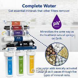 Alcaline Ultraviolet Système D'osmose Inverse De Filtration D'eau Avec Pompe 100 Gpd