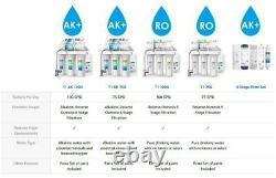 Alkaline 6 Étape Sous Évier Osmose Inverse Système De Filtre À Eau Potable /robinet