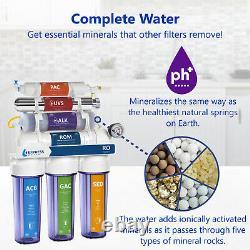 Alkaline Ultraviolet Reverse Osmosis Filtration System Clear + Gauge 100 Pib