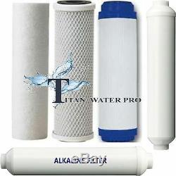 Amplificateur Alcalin De Ph 6 Systèmes De Filtration Par Eau À Osmose Inverse 6 Étapes 75 Gpd