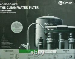 Ao Smith 4-stage Système De Filtre À Eau Osmose Inverse Sous Sink Certifié Nsf