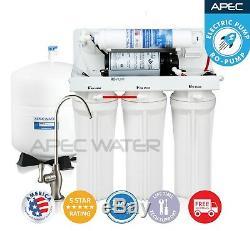 Apec 5 Etape 45 Gpd Osmose Inverse Filtre À Eau Système De Basse Pression Ro-pompe
