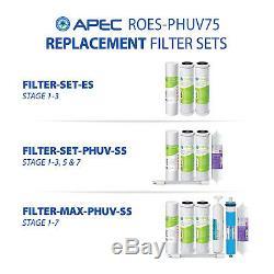 Apec Ph Alcalin Minéral + Et Ultra-violet Stérilisateur 75 Gpd 7stage Ro Système Uv