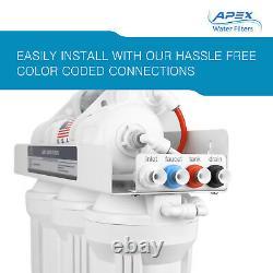 Apex Mr-6075 6 Étape 75 Gpd Alkaline Ph+ Ro Reverse Osmosis Water Filter System