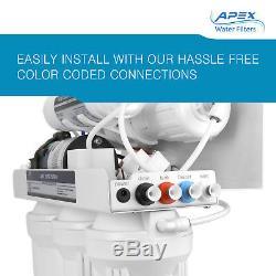 Apex Mr-6075p 6 Etape 75gpd Pompe Booster Ph + Eau Par Osmose Inverse Système De Filtre