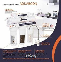 Aquaboon 100 Gallons Par Jour, Système De Filtration Par Osmose Inverse À La Maison En 5 Étapes