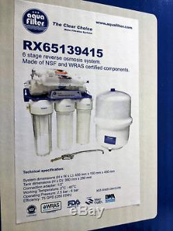 Aquafilter 6 Système D'osmose Inverse 75gpd Pour L'eau Potable