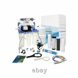 Aquafilter 7 Stage Système D'osmose Inverse Avec Pompe 75gpd Pour L'eau Potable